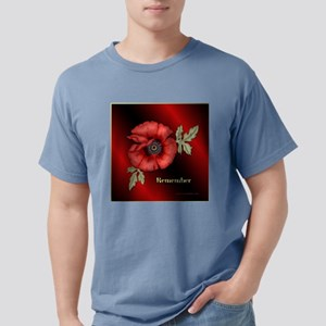 RememberPoppySquare.png Mens Comfort Colors Shirt